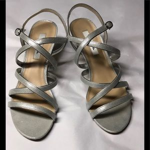 Nina Genaya Sz 10 Metallics Strappy Dress Sandals